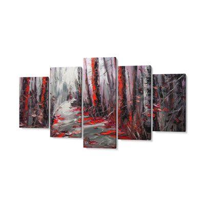 5 részes abstract vászonkép