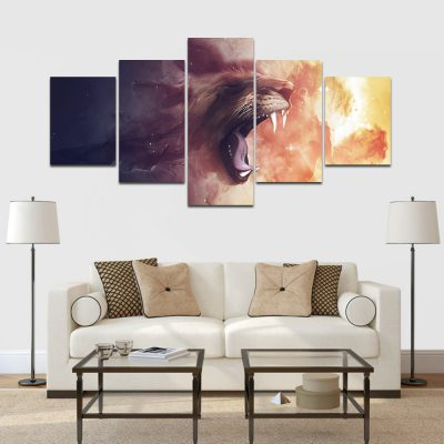 tigris absztrakt vászonkép