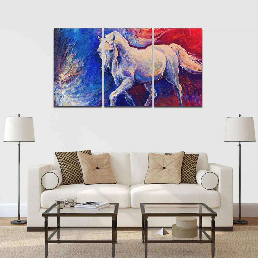absztrakt ló többrészes falikép