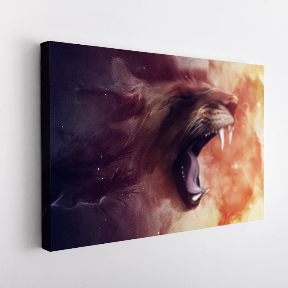 oroszlán absztrakt vászonkép