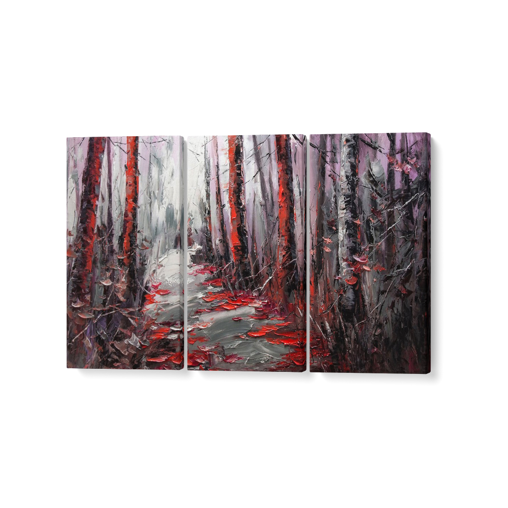 absztrakt erdő feszített vászonkép
