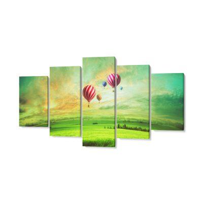 5 részes vászonkép ballonok