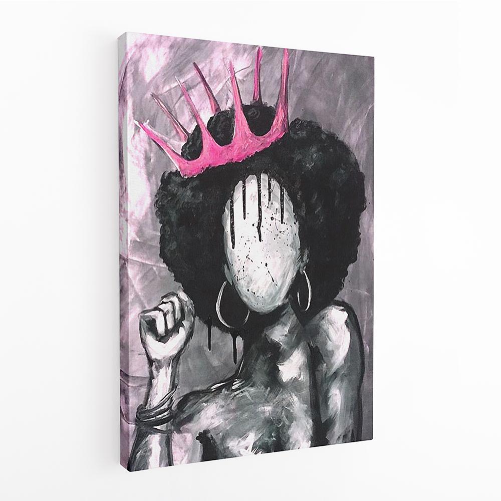 black princess csajos vászonkép