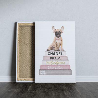 francia bulldog fashion vászonkép