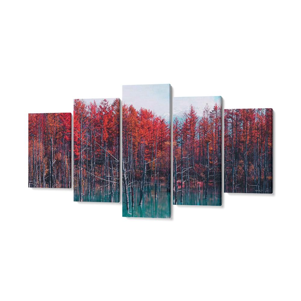 japán erdő többrészes falikép