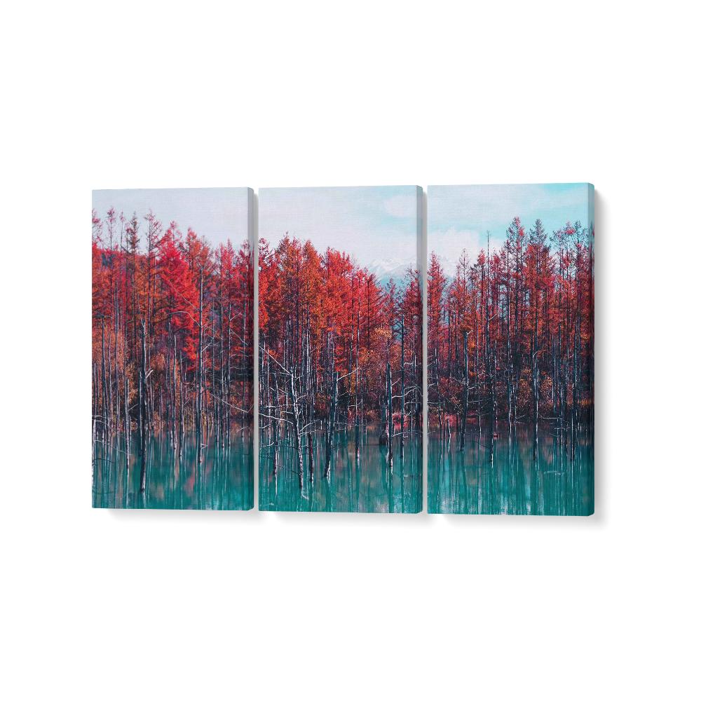japán erdő feszített vászonkép