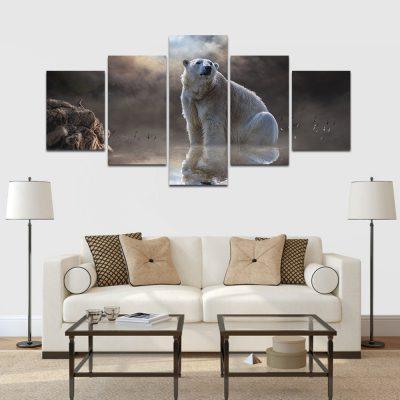 feszített vászonkép jegesmedve