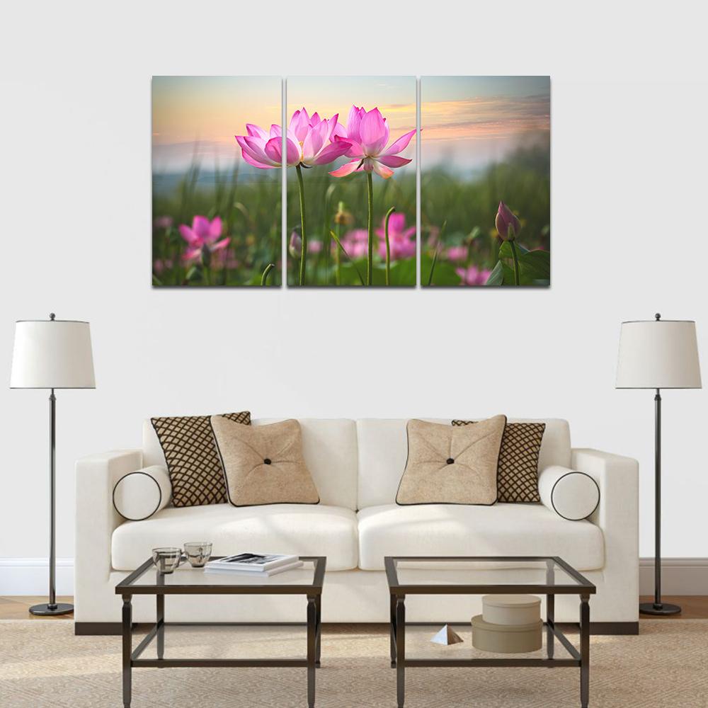 Lotus virág feszített vászonkép