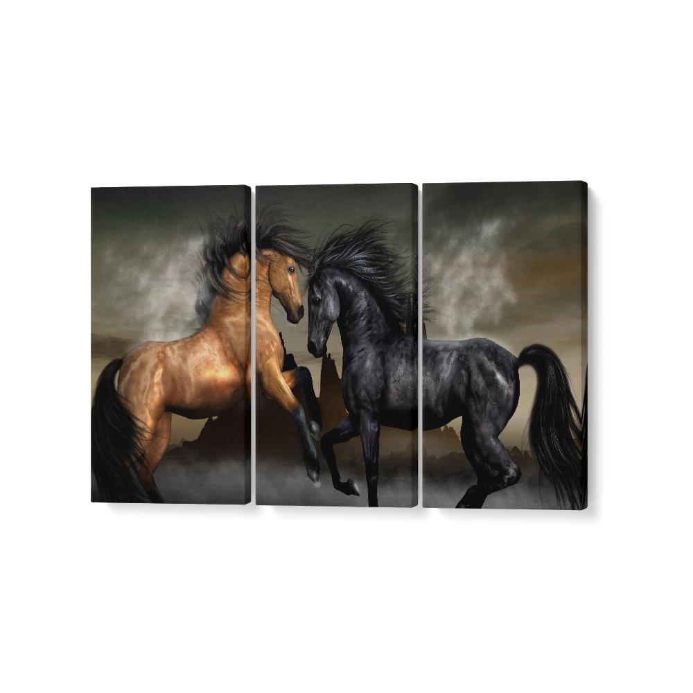lovak feszített vászonkép