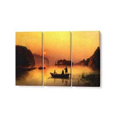 naplemente feszített vászonkép