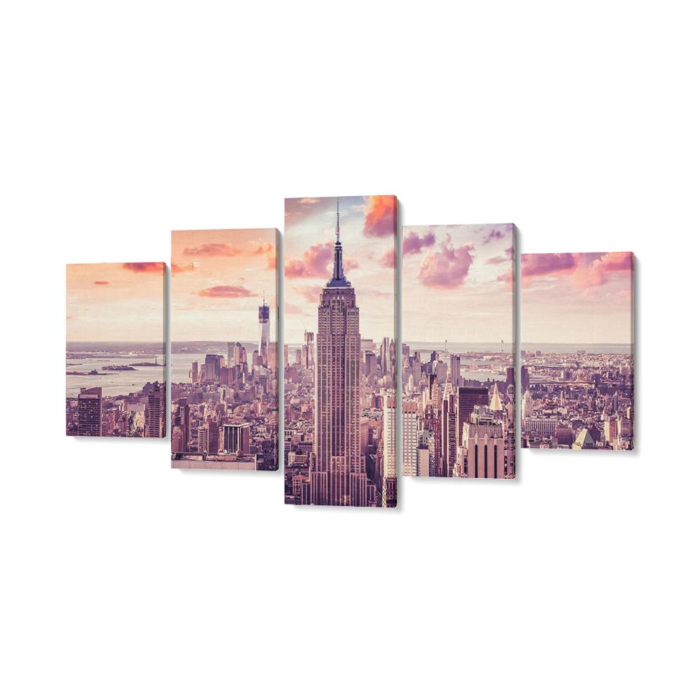 new york többrészes falikép