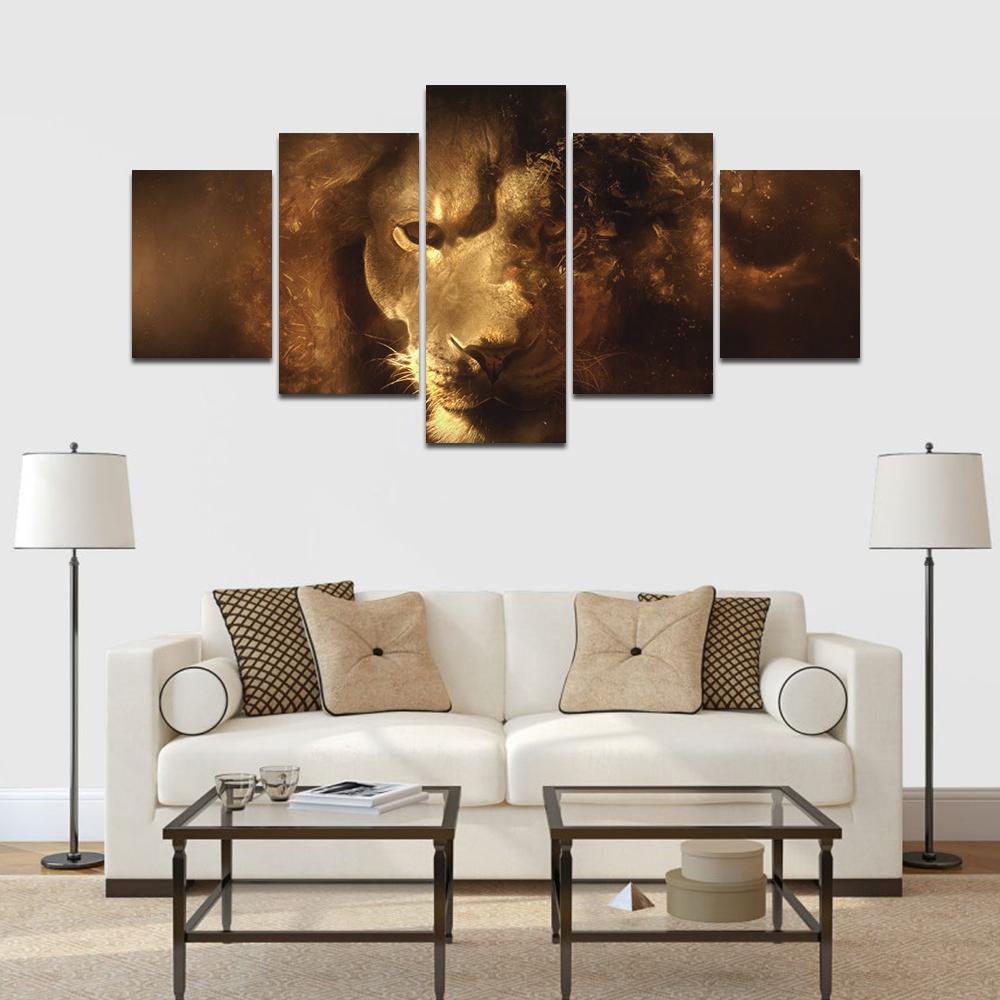 oroszlán többrészes vászonkép