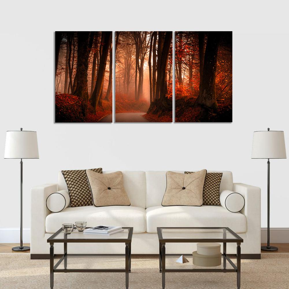 őszi erdő vászonkép