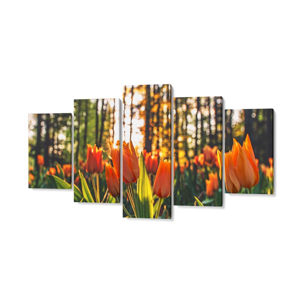 tulipan többrészes vászonkép