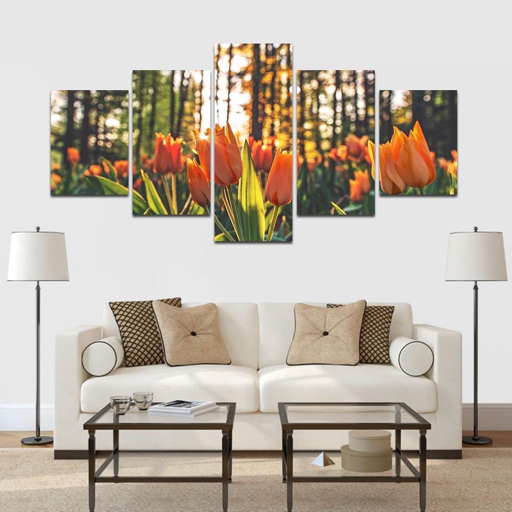 tulipan többrészes falikép