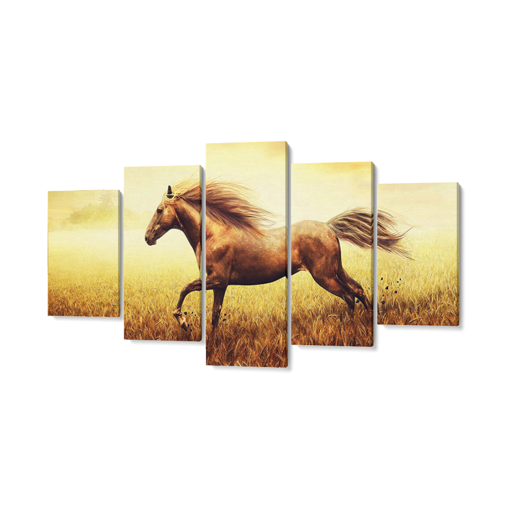 lovas feszített vászonkép