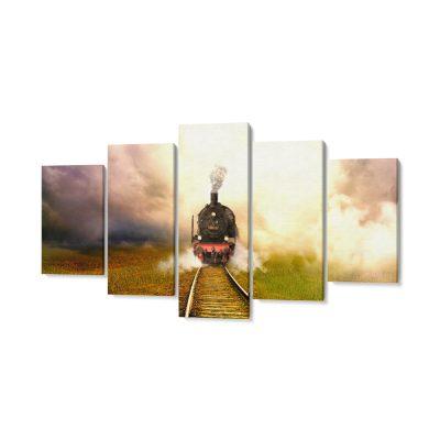 vonat többrészes falikép
